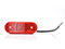 LED Side marking light WAŚ 114x63x40 red 220mm Cable