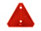 Triangle reflector WAŚ 125x150mm red