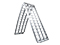 Loading ramp aluminium silver 2380x450mm, foldable: 1230x450mm, 680 kg