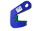 Pipe lifting clamps TPH, 750 Kg