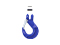 Clevis Sling Hook with latch G80 7/8-8mm, 2 ton