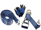 Ratchet tie down set 50mm with double J-hook, langer Griff. Length 0,5+9,5m. 2500 kg (daN)