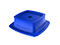 Corner steady plates stackable 144x144x41mm blue (4-pack)